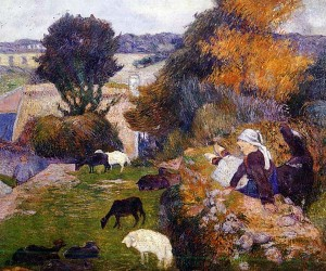 La bergère Bretonne - Peinture de Paul Gauguin