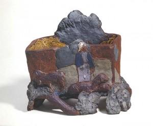 Bergère et son troupeau - Peinture de Paul Gauguin